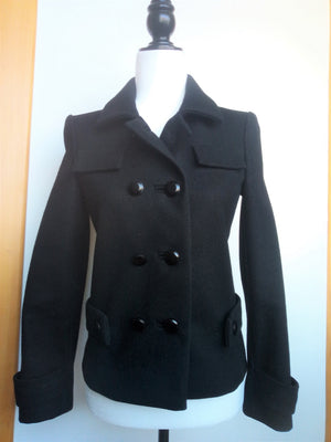 Balenciaga Wool Jacket in Black  Size 36 (EU)