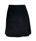 Iceberg Black Mini Skirt in Alpaca, Mohair and Virgin Wool Size 40 (EU)