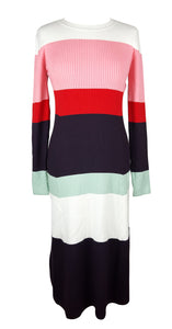 JossTricot Colour Block Ribbed Dress Size L