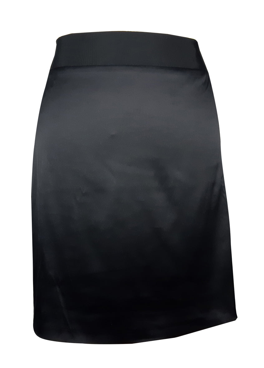 Ted Baker Satin Look Black Skirt with Bow Detail in the Back Size M (INT)