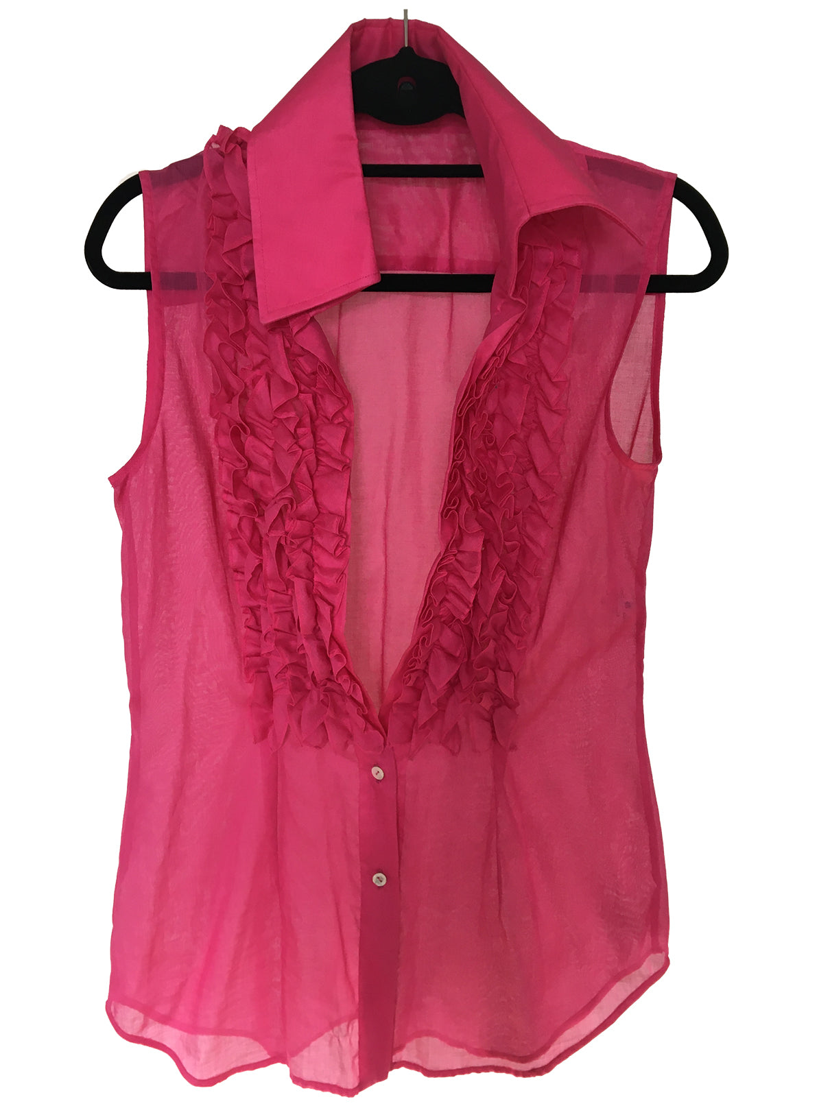 Dolce & Gabbana Ruffles Sleeveless Pink Blouse Size 42 (EU) 46 (IT)