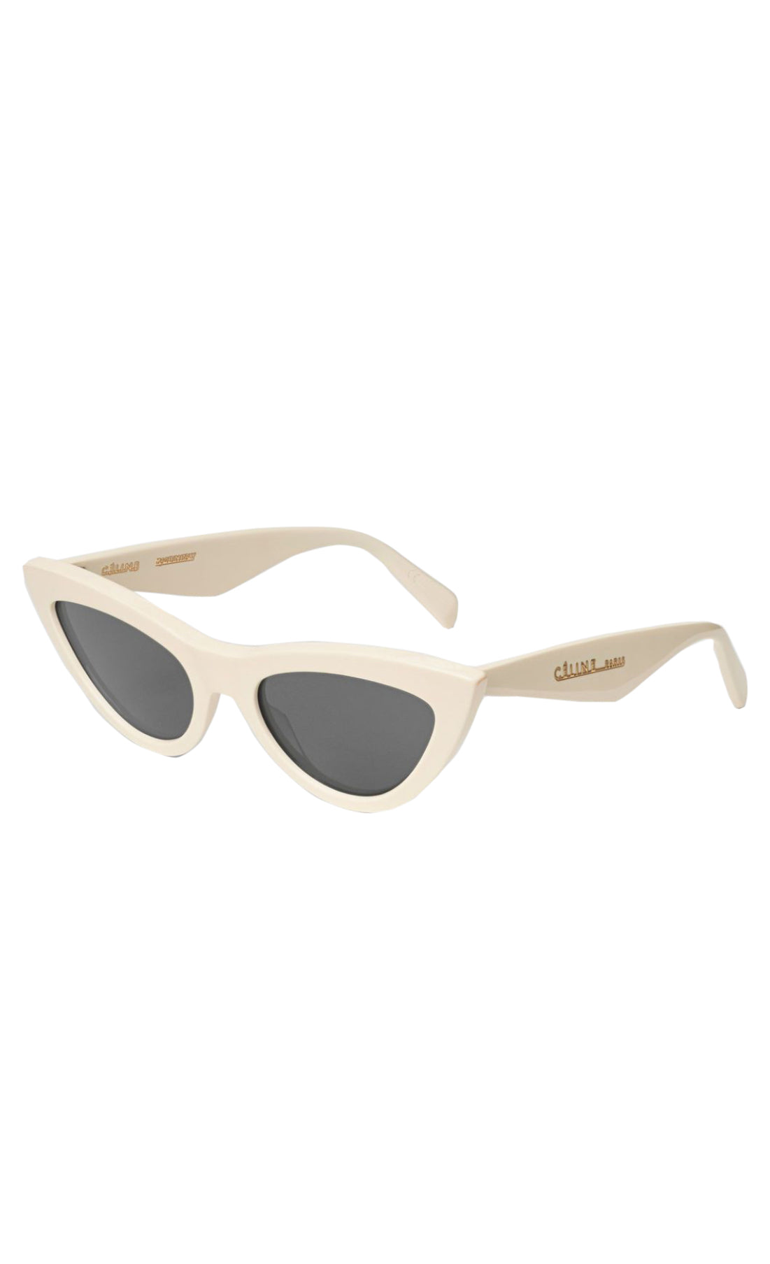 Céline Cat Eye Sunglasses in Cream and Black Lens