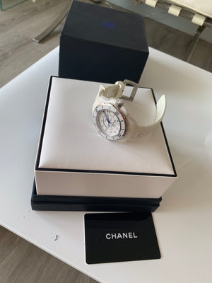 Chanel J12 Marine Automatic Ceramic Watch in White with Warranty