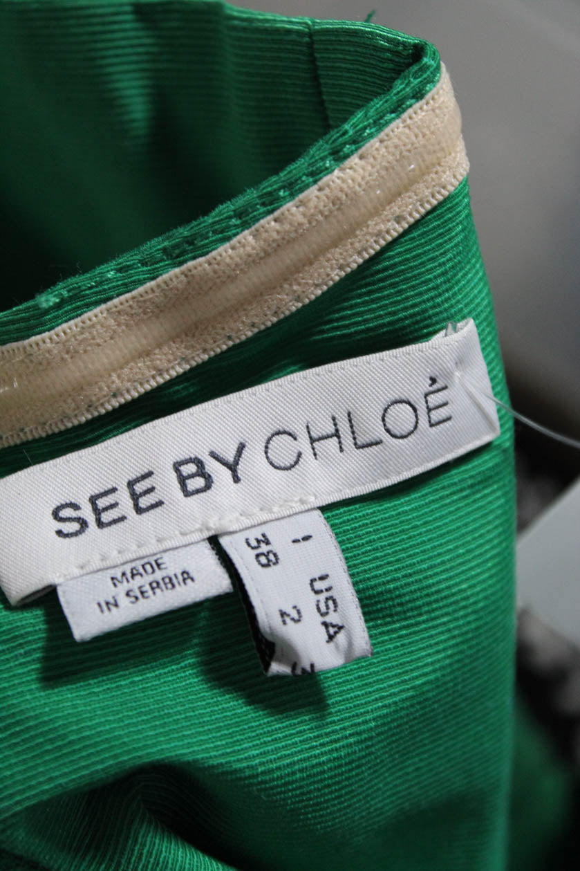 See by Chloé Green Tulip Dress with Zip Pockets Size 38 (EU)