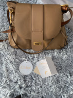 Chloé Lexa Leather Medium Crossbody Bag in Light Brown Nut Colour