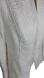 Carolina Herrera White Cotton Blazer with Embroidered Size 16 (UK)