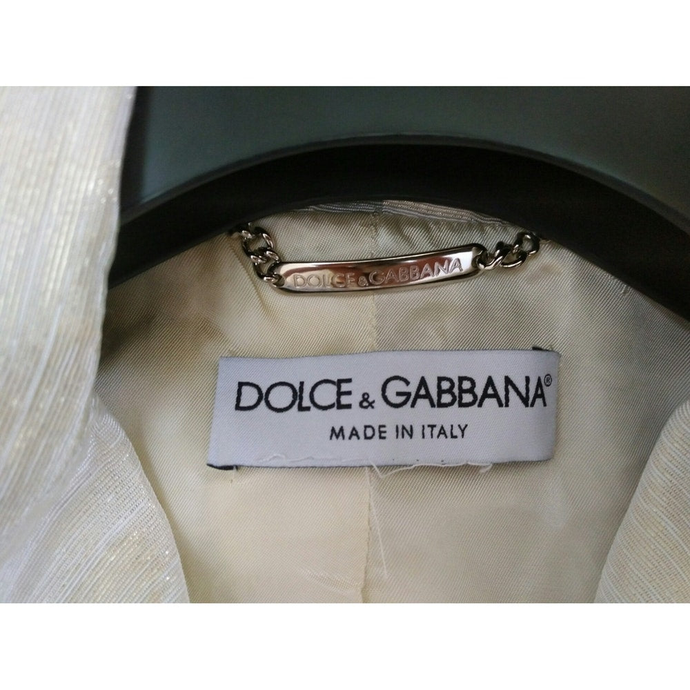 Dolce & Gabbana Beige Suit with Gold Metallic Thread Size 36 (EU)