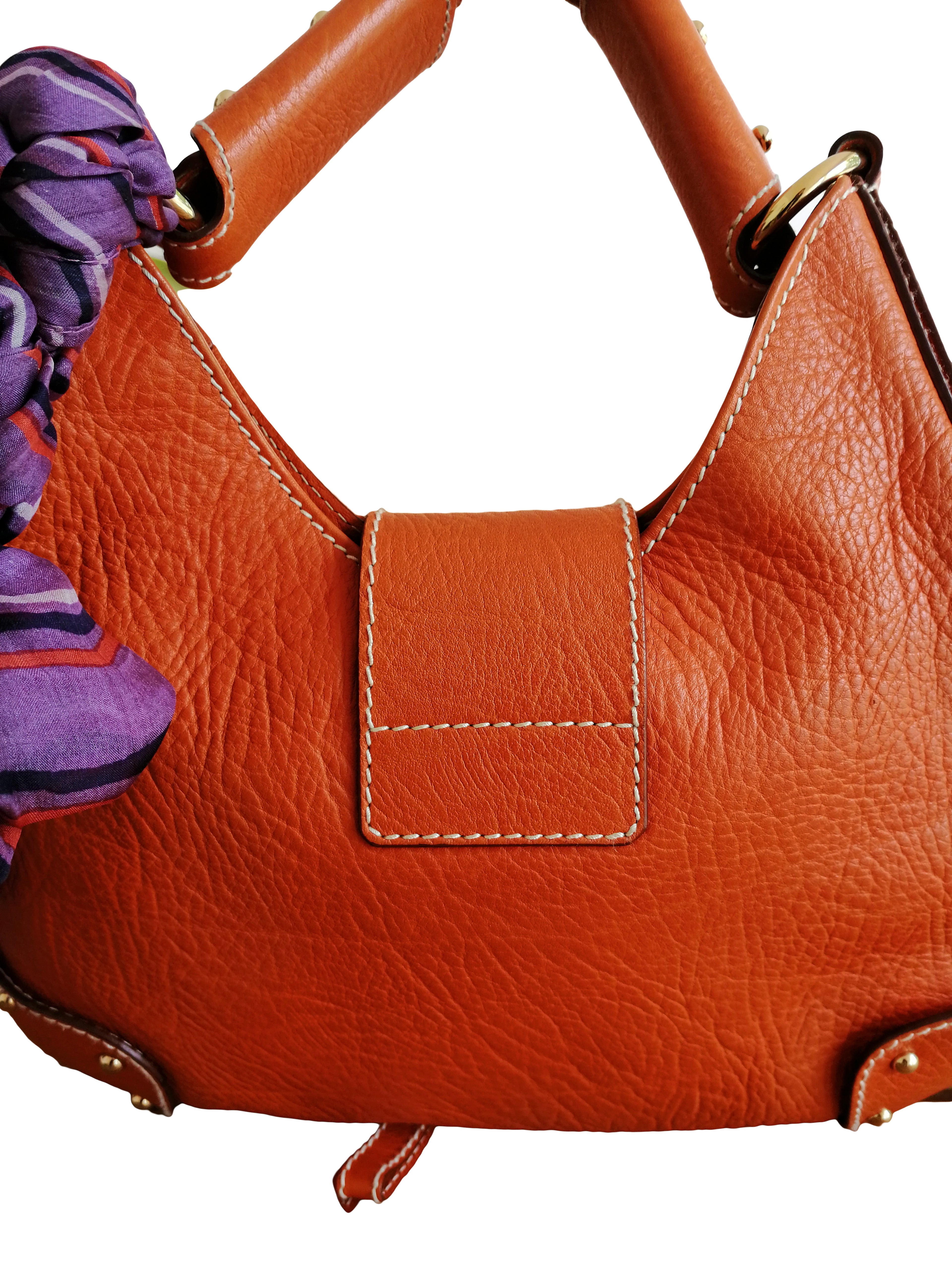Dolce & Gabbana Orange Leather Handbag