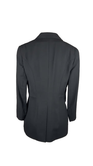 Mulberry Black Jacket with Pocket Detail and Logo Buttons Size 38 (EU)