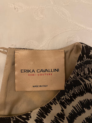 Erika Cavallini Sleeveless Cotton Dress in Yellow, Black and Grey Size 38 (EU)