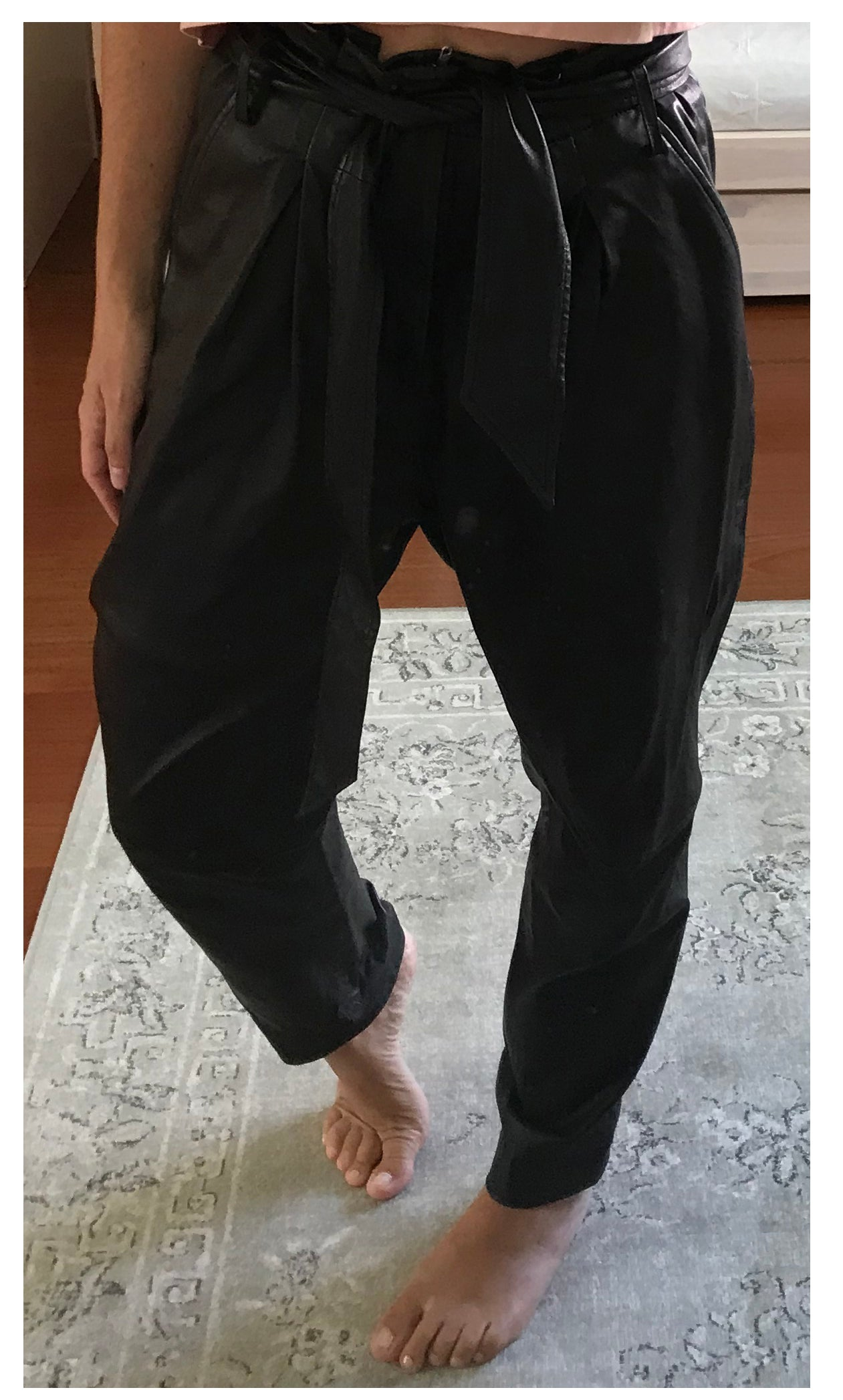 IRO SS19 Pleasant Model Black Leather Trousers Size 38 (EU)