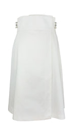 Ines de La Fressange White Skirt with Buckle Detail on the sides Size 40 (EU)