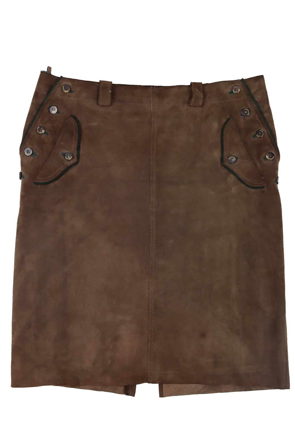 Trussardi Brown Suede Skirt with Pockets Size 42 (EU)