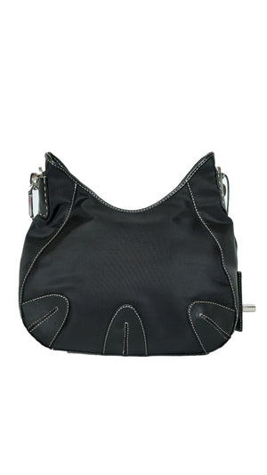 Gianfranco Ferré Black Leather Handbag with Metal Logo