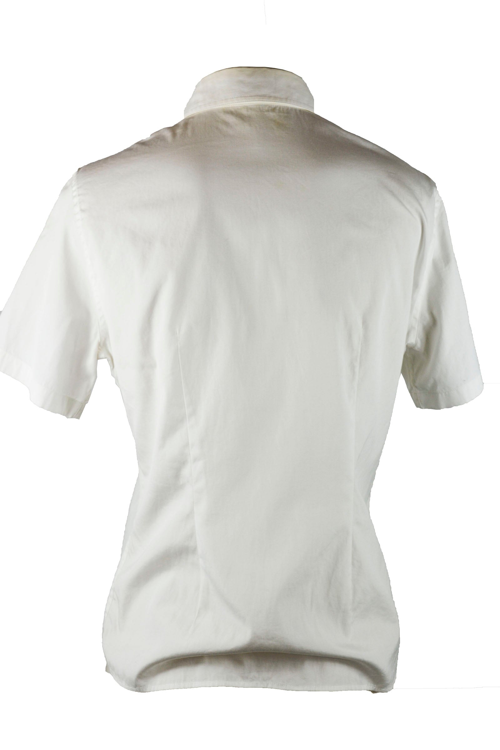 Burberry White Short Sleeved Shirt with Embroidered Pocket Size 40 (EU)