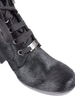 Tod's Black Pony Style Ankle Boots Size 38 (EU)