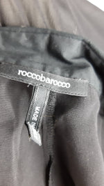 Roccobarocco Black Transparent Blouse with Ruffle  Blouse Size 48 (EU) 52 (IT)