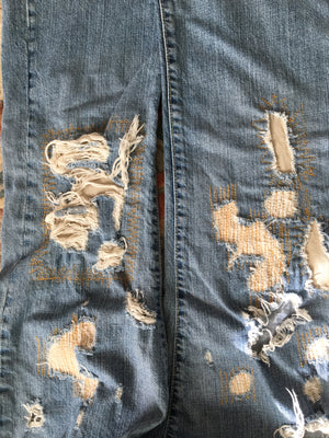 JUST CAVALLI Ripped Jeans Size 40 (EU)