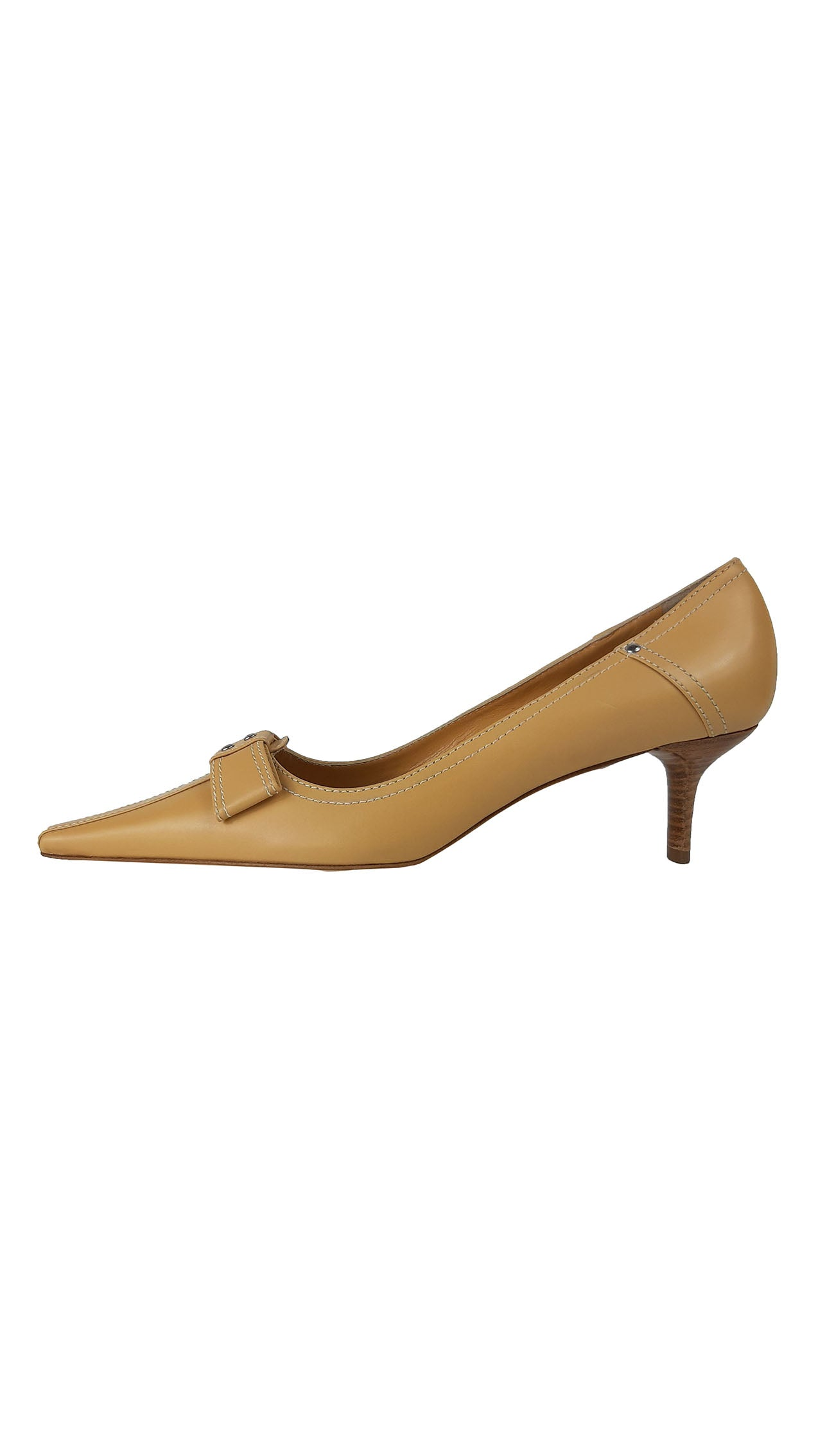 The Saddler Camel Shoes with Leather Bow Detail Size 39 (EU)