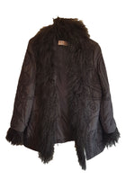 Laurel Black Coat with Removable Fur Details and Floral Embroidery Size 38 (EU)