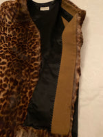 Dries Van Noten Sleeveless Jacket in Rabbit Fur in the Front and Plain Black Silk in the Back Size 42 (EU)