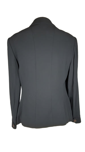 Laurèl Virgin Wool Black Suit Size 38 (EU)