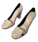 MARC BY MARC JACOBS Ivory Leather Heeled Mocassins Size 39 (EU)
