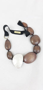 Max Mara Weekend  Brown Necklace with Stones