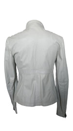 Max & Co Grey/Beige Leather Jacket Size 38(EU)
