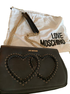 Love Moschino Black Leather Bag
