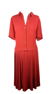 Karen Millen Pleated Cherry Dress Size 42 (EU)