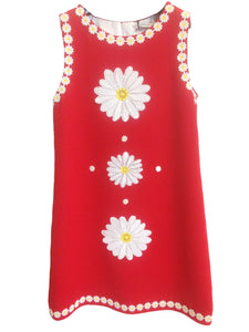 Dolce & Gabbana Red Mini Dress with White Flowers Size 10/12 Years