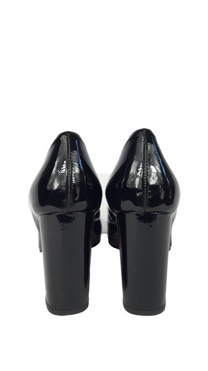 Red Valentino Patent Leather Black Shoes Size 36 (EU)