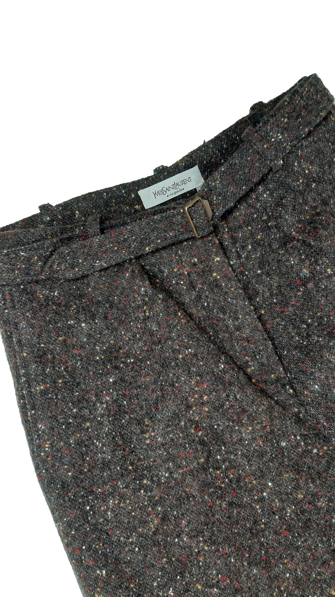 Yves Saint Laurent Rive Gauche  Brown Tweed Carrot Trousers Size 40 (EU)