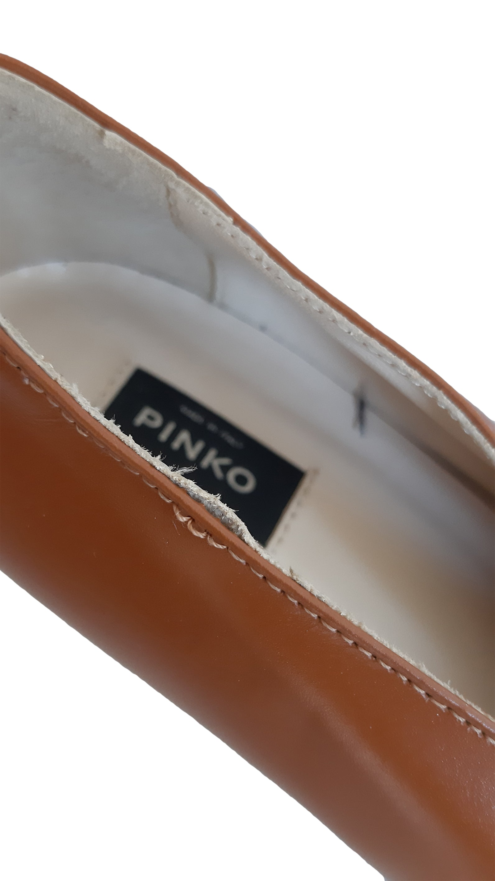 Pinko Camel Leather Pointed Toe Shoes and French Heel Size 36 (EU)