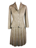 Paule Ka Pleated Skirt Suit in Virgin Wool Size 36 (EU)