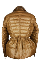 Burberry Brit Camel Puffer Waisted Jacket  Size L (INT)
