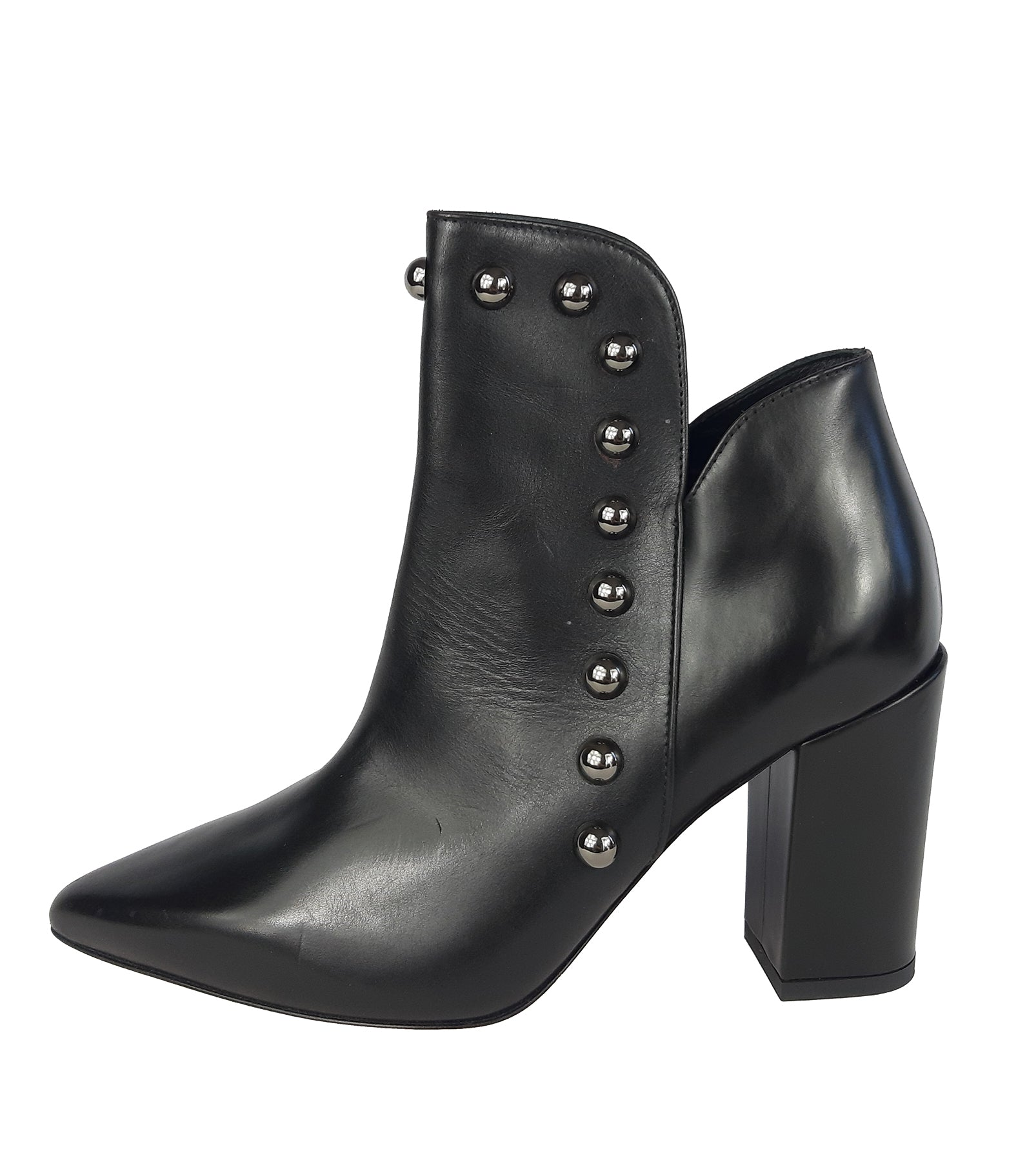 Pinko Black Platform Pointed boots with Black Shiny Studs in the front Size 36 (EU)