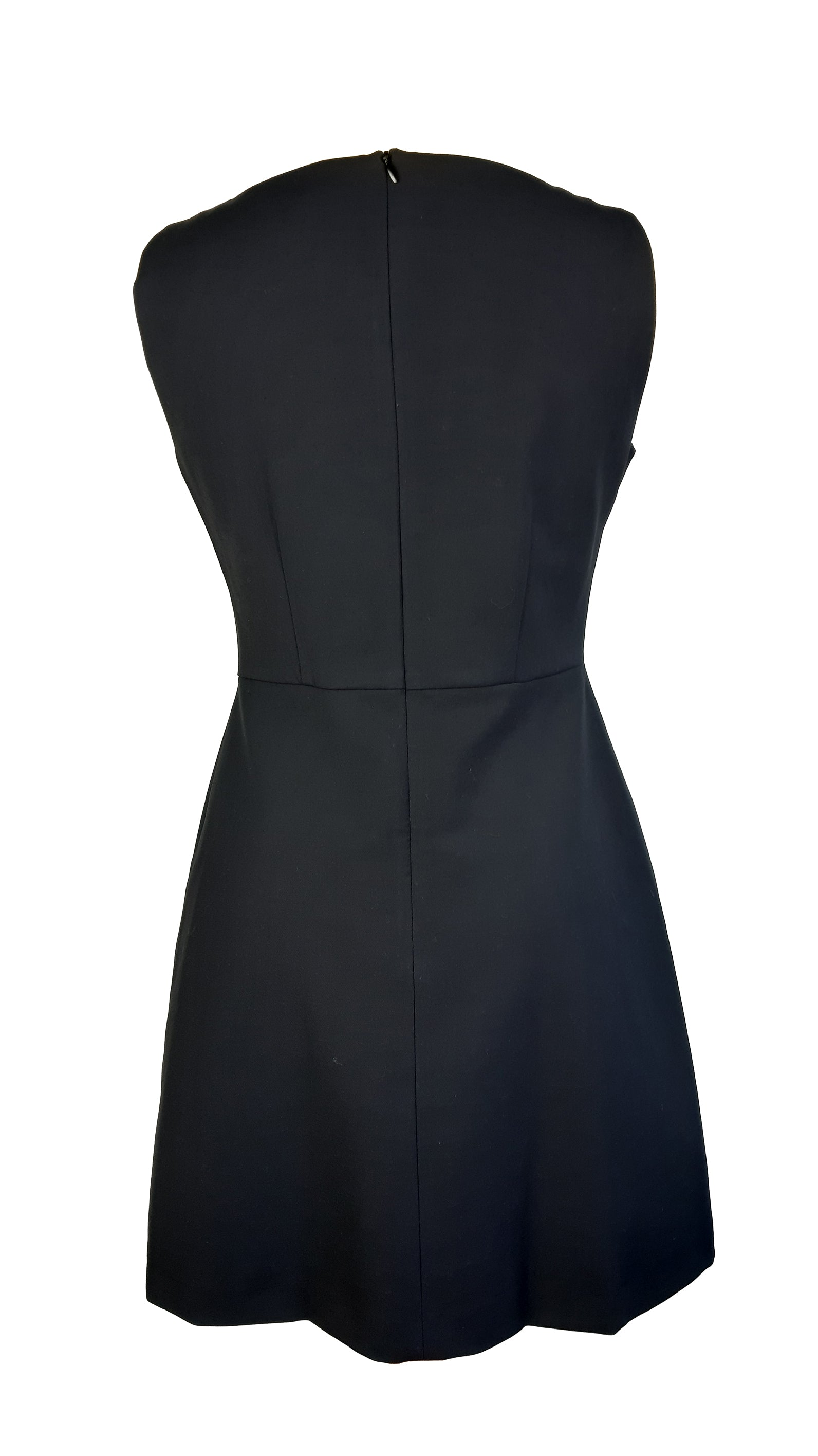 Tara Jarmon Black Dress with Cutout Neckline Size 38 (EU)
