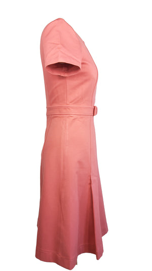 Tara Jarmon A-Line Pink Dress with Bow Detail in the waist Size 38 (EU)