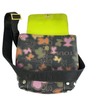 Tous Leather Crossbody Bag in Leather and Yellow interior