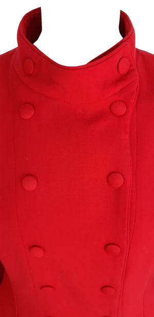 Emanuel Ungaro Red Pure Wool Military inspired Blazer in Red Size 40 (EU)