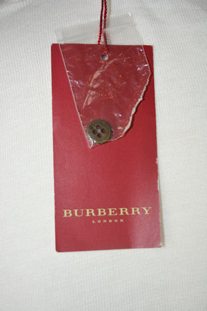 Burberry Knitted Jacket with Blue Diamond Pattern Size 44 (EU)