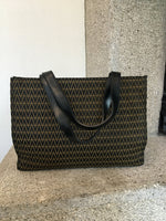 Mario Valentino V-Pattern Shoulder Bag with Leather on the Inside and Handles