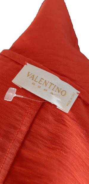Valentino Roma Orange Embroidered Vest Size 40 (EU)