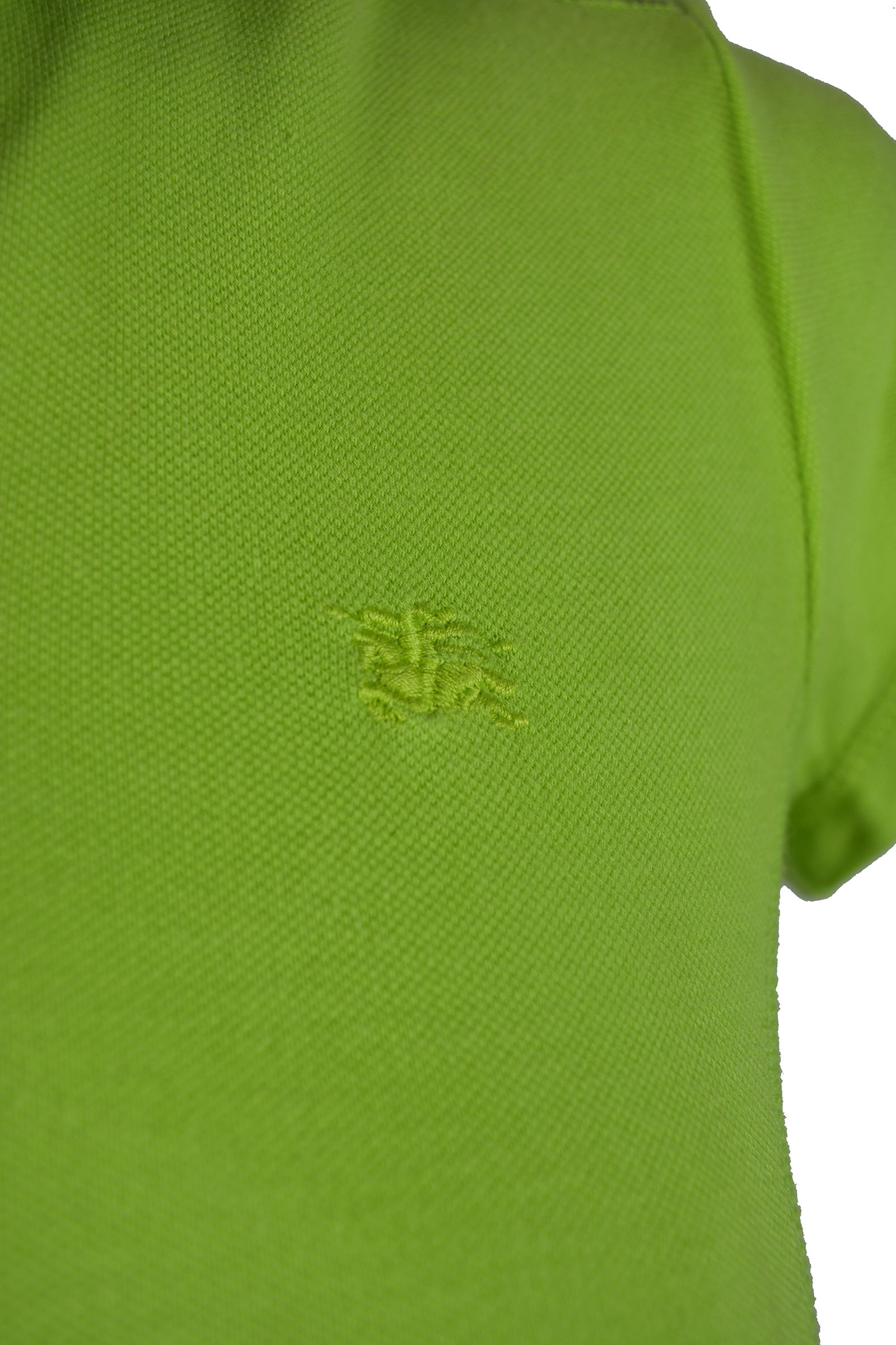 Burberry Polo Shirt in Light Green and Check Pattern Details Size 38 (EU)