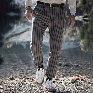 Men's Fashion Striped Trousers