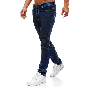 Men's Plus Size Simple Pure Colour Jeans