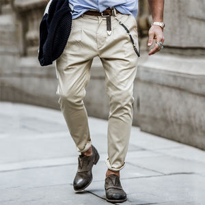Men's Fashion Solid Color Trousers