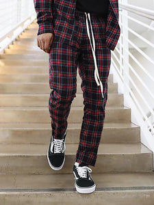 Literary Fashion Check Slim Fit Pants